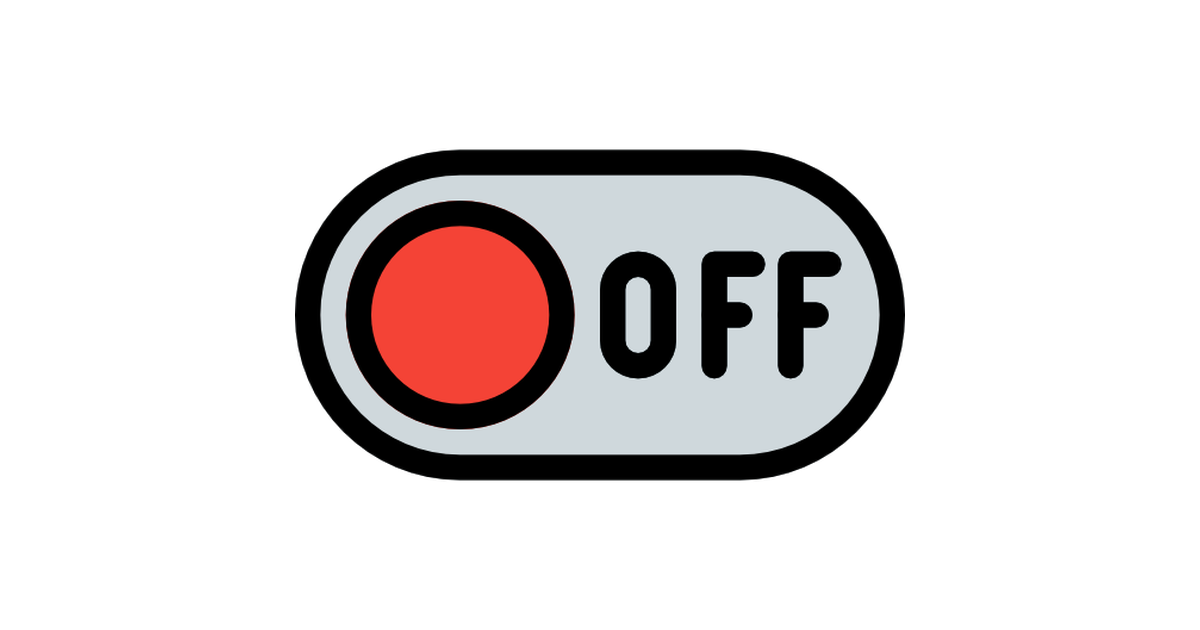 Switch off.
