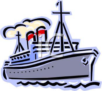 Ship with Smokestacks.