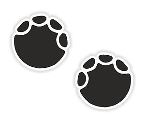 2x Elephant Paw Print Stickers indicates Strength Enormity and.