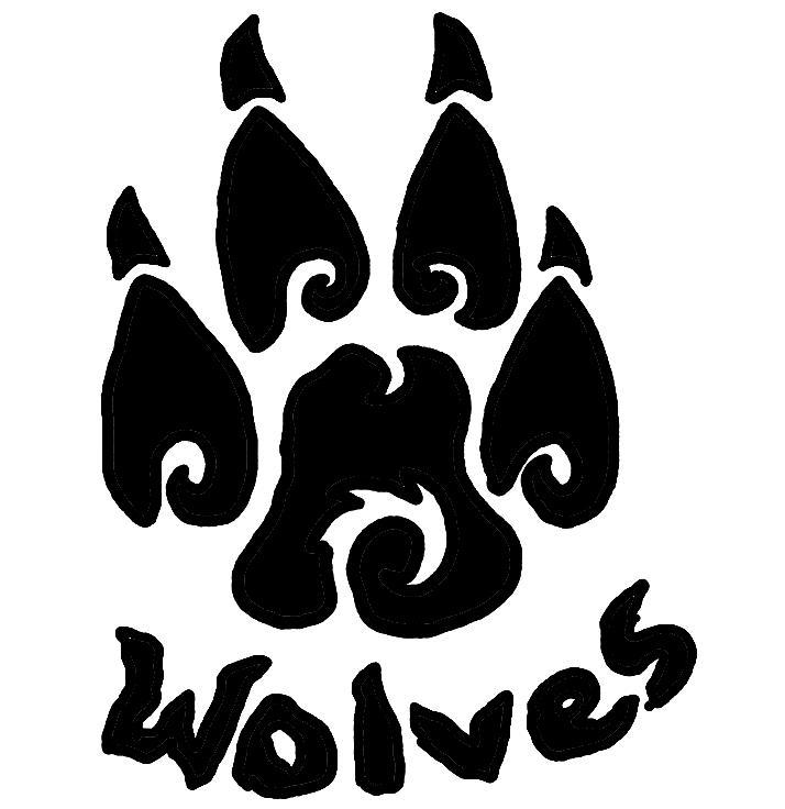 Wolf paw clip art.