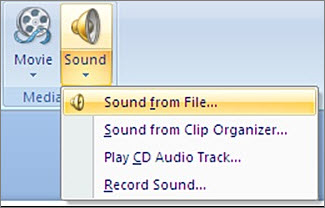 Add audio to your PowerPoint presentation.