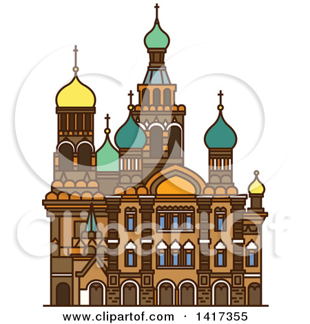 Clipart of Moscow and Russia Designs with Text.