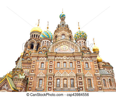 Stock Images of Savior on Spilled Blood Cathedral..