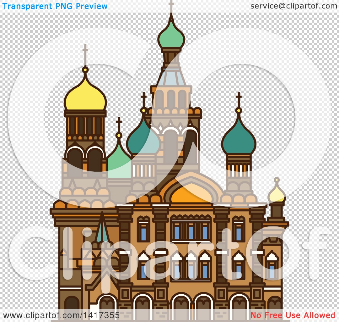 Clipart of a Russian Landmark, Church of the Savior on Spilled.