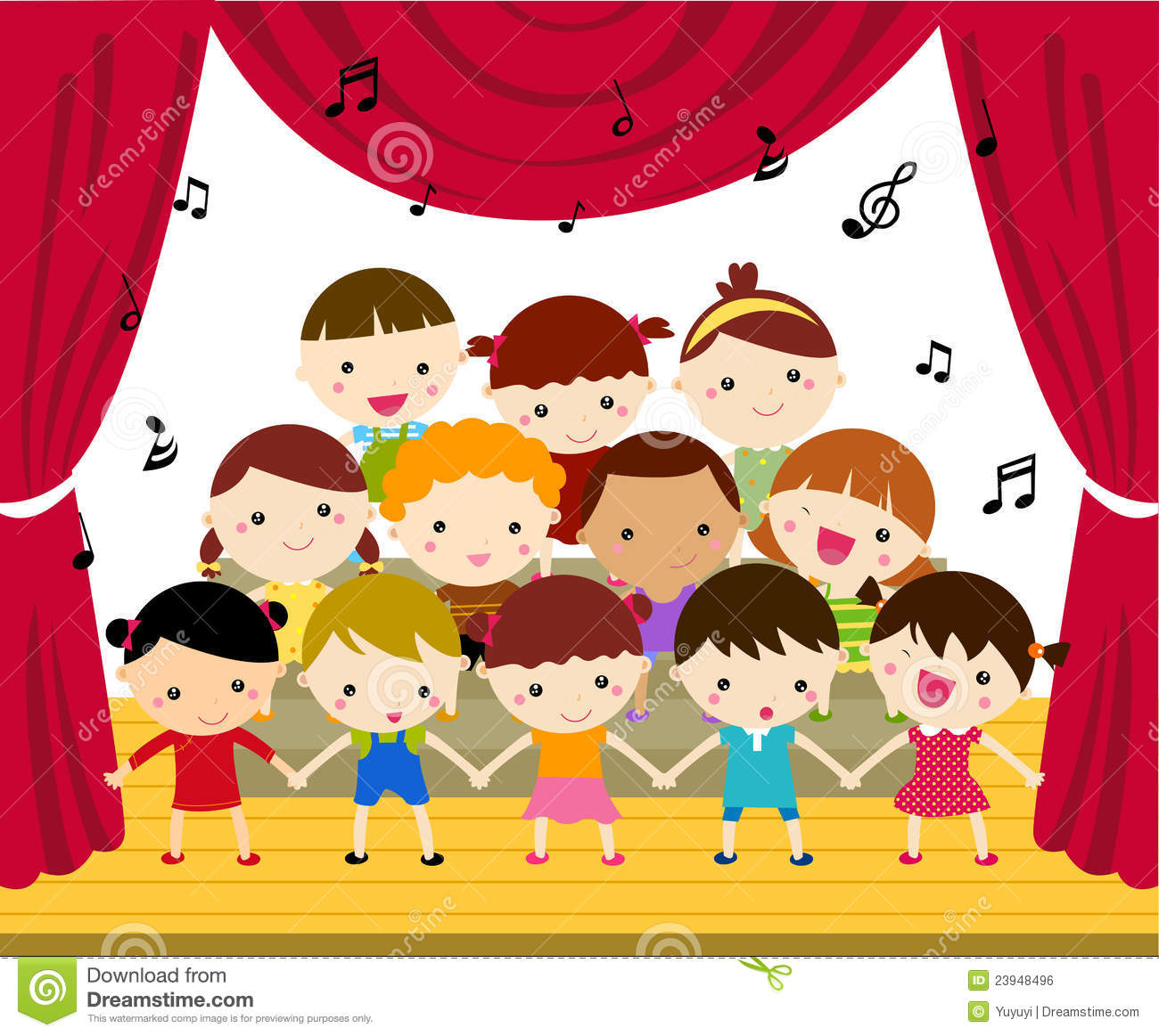 Stage performance clipart.