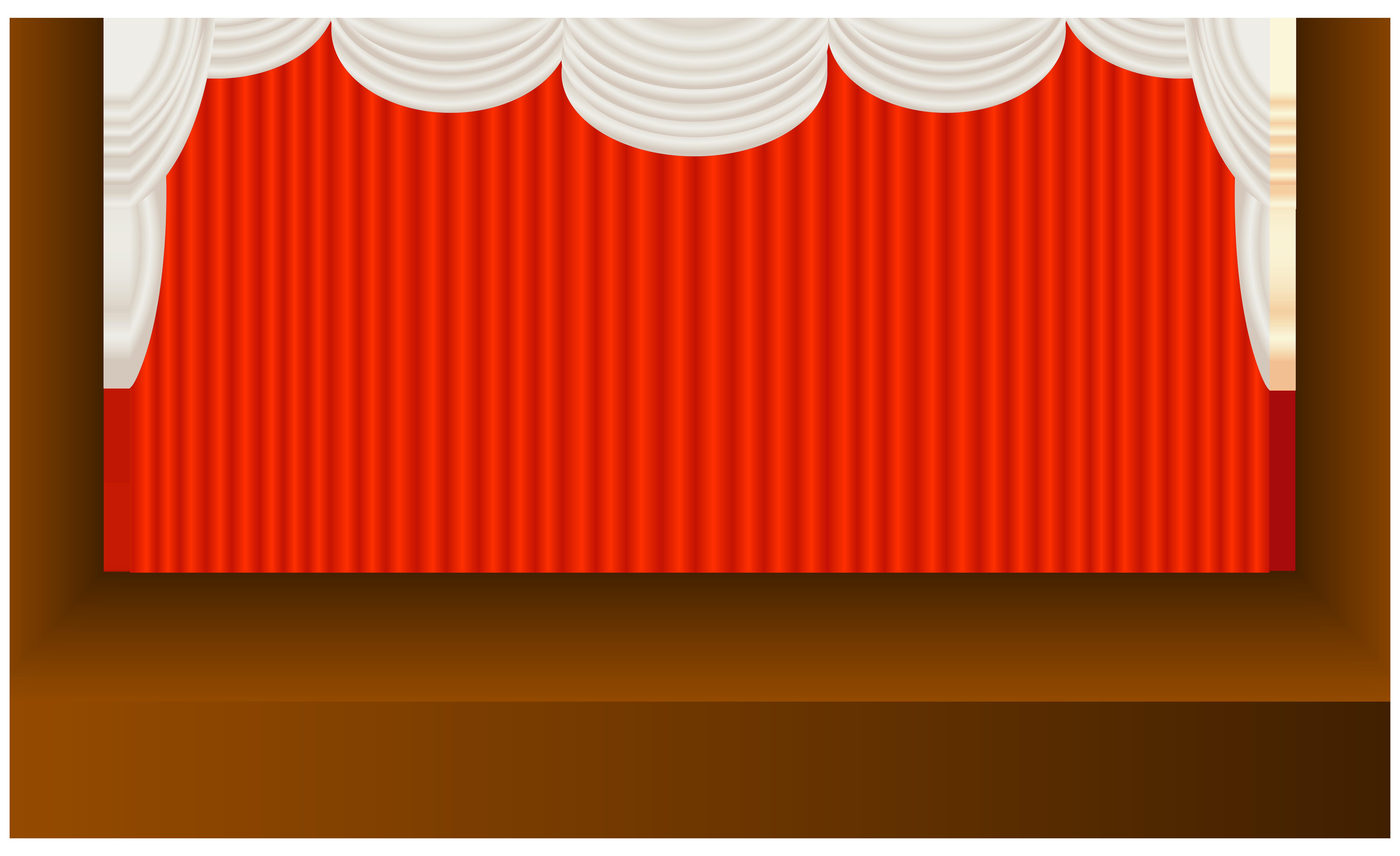 Stage PNG Transparent Clip Art Image.