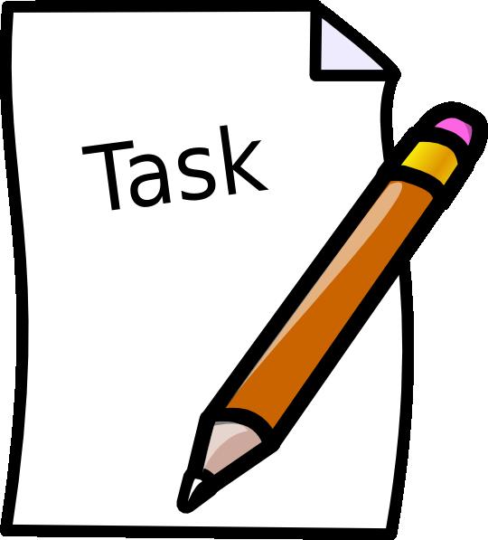 Task Clip Art at Clker.com.