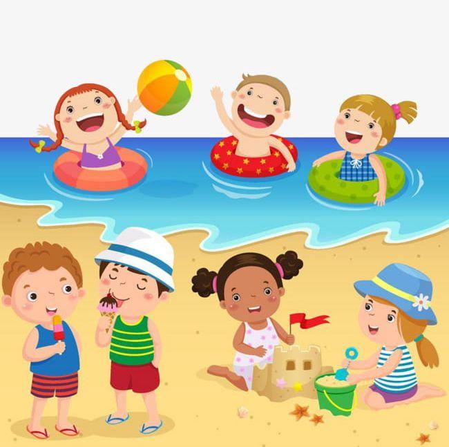 Playing On The Beach PNG, Clipart, Beach, Beach Clipart.