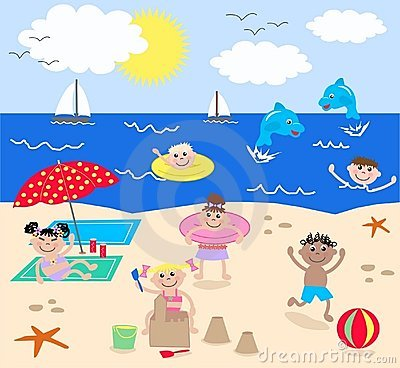 6+ The Beach Clipart.