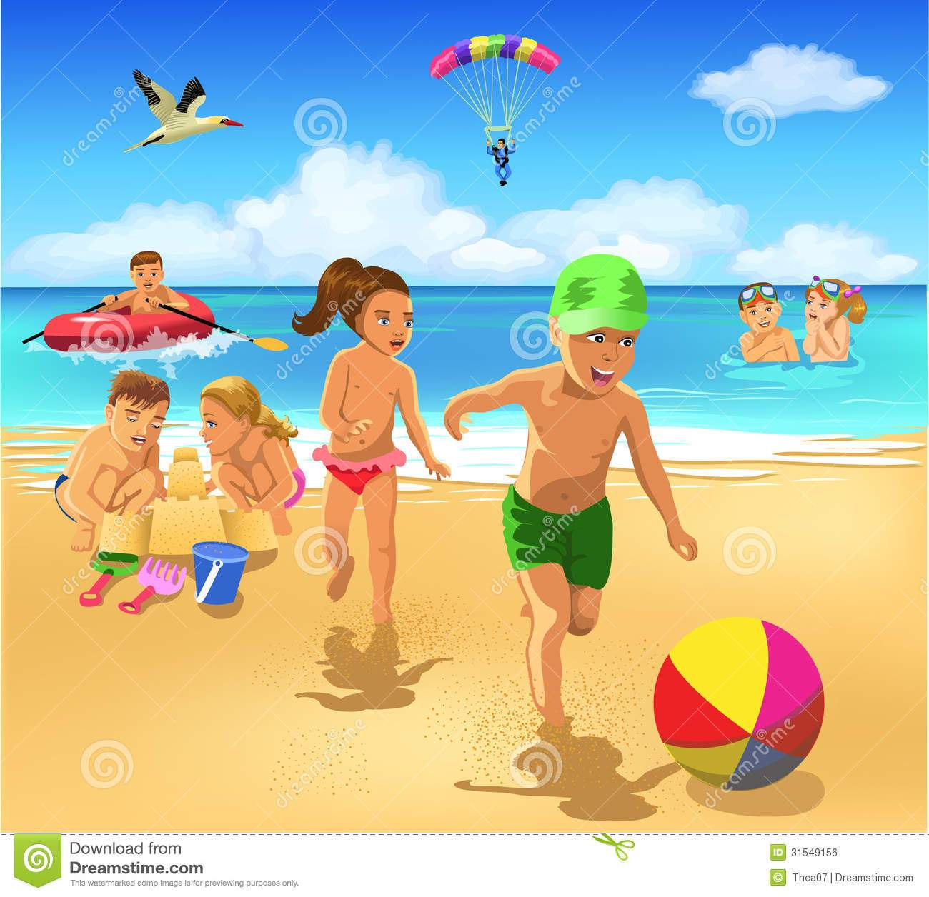 Children playing on the beach clipart 7 » Clipart Portal.