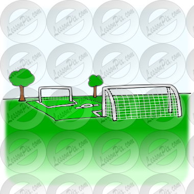 Soccer Field Picture for Classroom / Therapy Use.