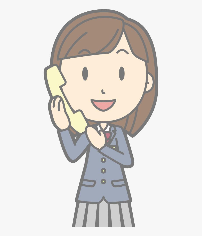 Female Using Telephone.