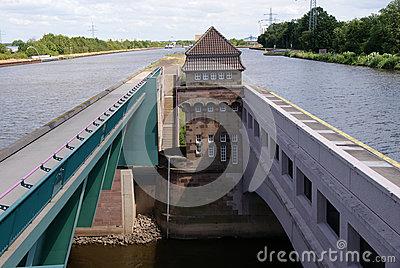 Minden,Weser River,Weserbergland,Germany Royalty Free Stock Images.