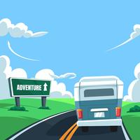 Road Trip Free Vector Art.