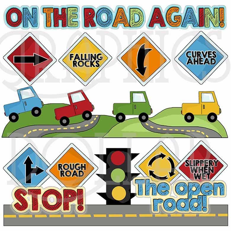 The Open Road Clip Art.