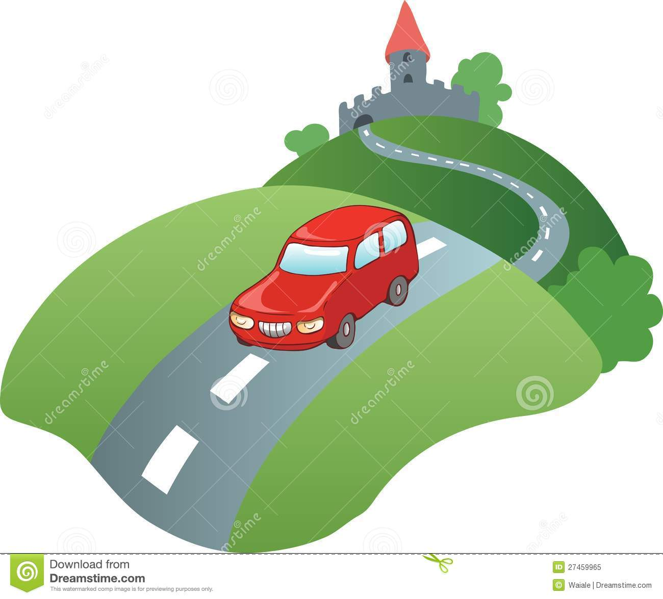 Car On Road Clipart.