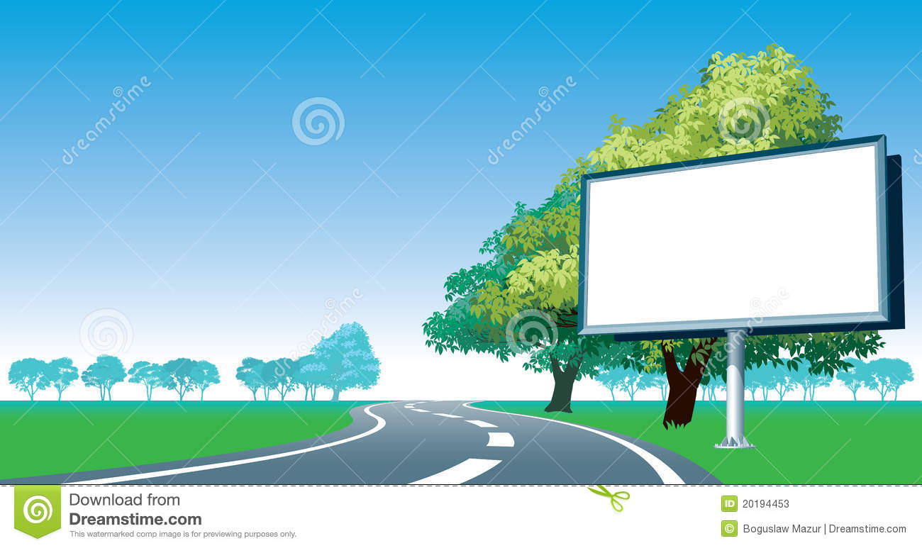 Billboard By The Roadside Royalty Free Stock Images.