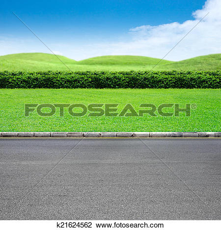 Stock Photo of Roadside and grass k21624562.