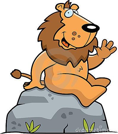 Lion Walking Royalty Free Stock Image.