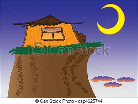 EPS Vector of house on the rock.