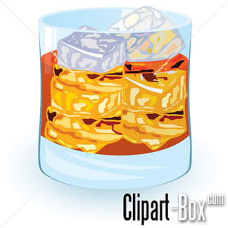 CLIPART SCOTCH ON THE ROCKS.