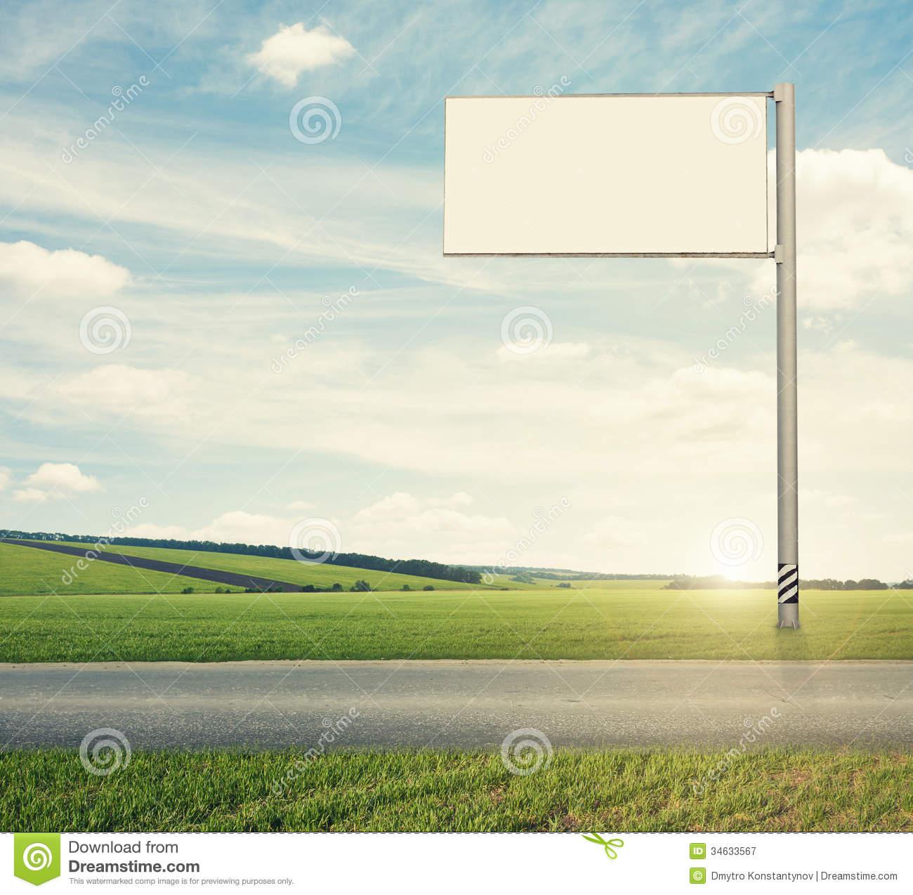 Road billboard clipart.