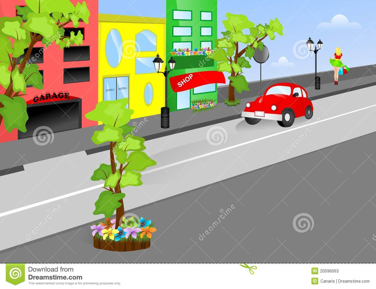 On the street clipart - Clipground