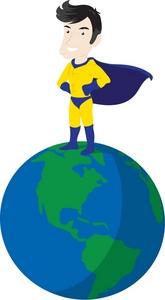 Superhero Clipart Image.