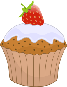 Cupcake With Strawberry On Top Clip Art at Clker.com.