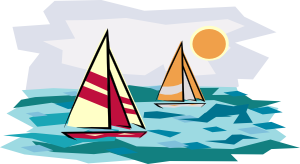 Sailboats On the Water Clip Art.