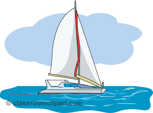 Boat on the water clipart.