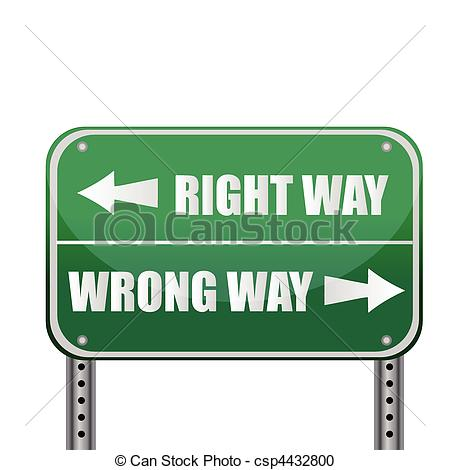 Clip Art Wrong Way Sign Clipart.