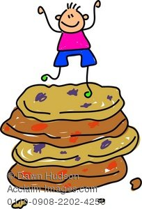 Clipart Illustration of a Happy Little Boy Standing on Top of a.