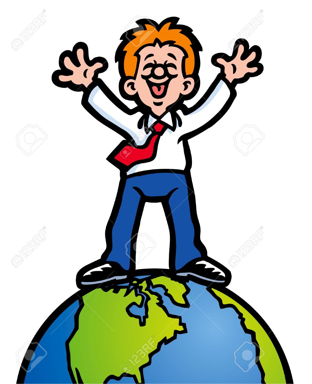 On Top Of The World Clipart.