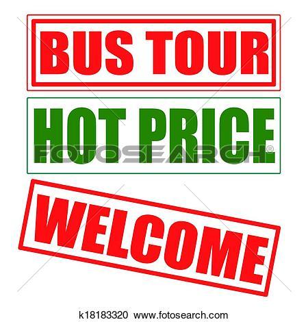 Clipart of bus tour k18183320.