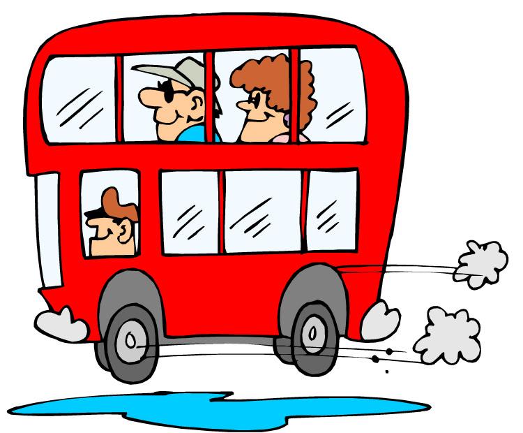 Tour Bus Trip Clipart.