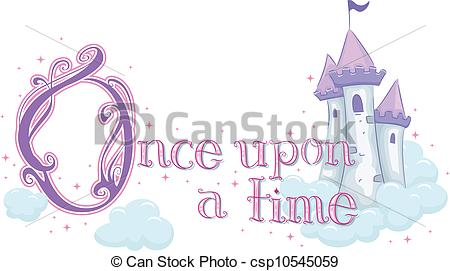 Clipart Vector of Once Upon a Time.