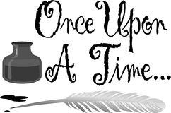 Black and white tree clipart once upon a time.