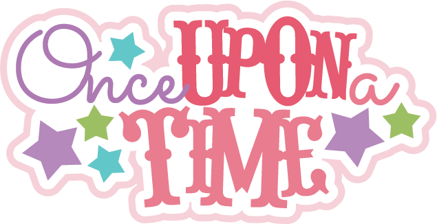 Once upon a time book clipart.
