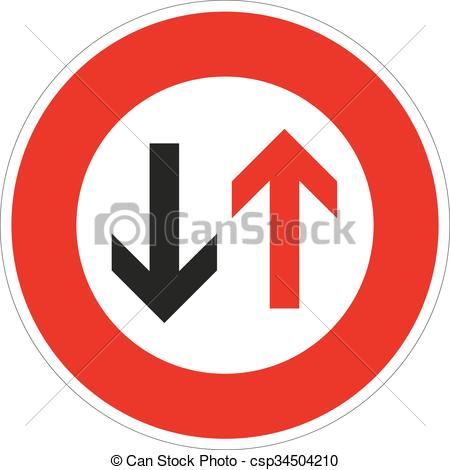 Vector Clip Art of grant the oncoming traffic will pre.