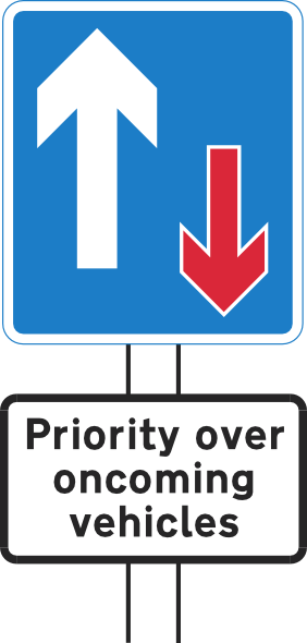 Priority Over Oncoming Vehicles Clip Art at Clker.com.