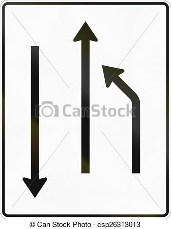 Clipart of Turn To Other Lane.