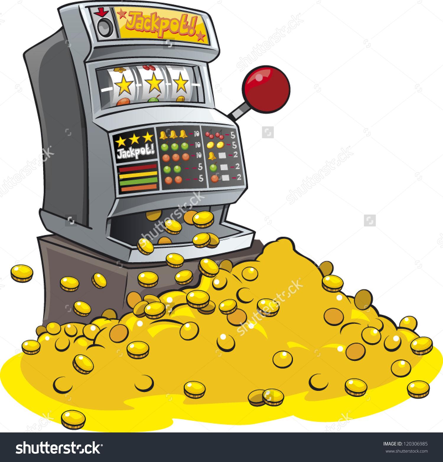 Cartoon One Arm Bandit Fruit Machine Stock Vector 120306985.