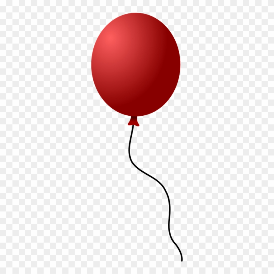 Birthday Balloon Red One Sing Clipart (#2309404).