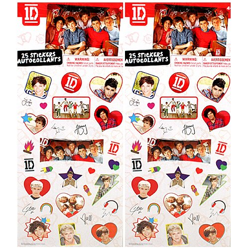1D One Direction Sticker Sheets [2.