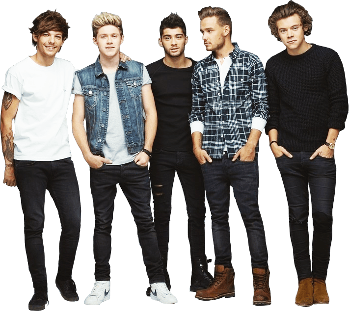 Band One Direction transparent PNG.