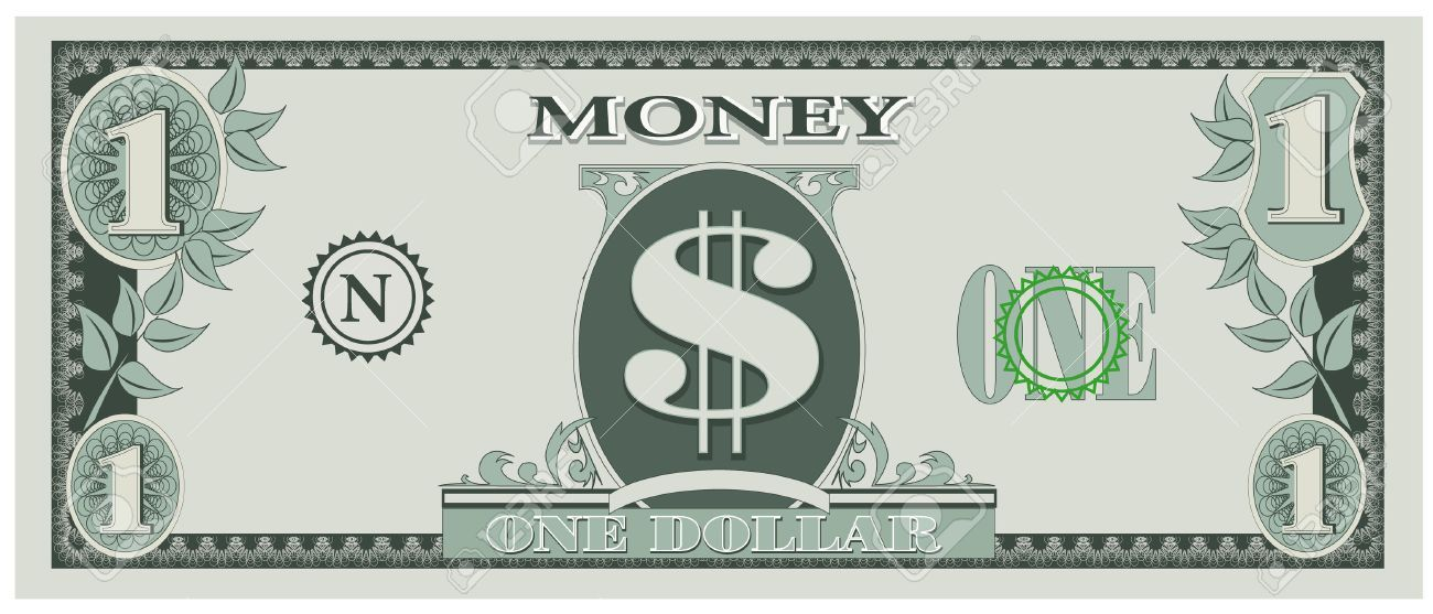 One dollar bill clipart » Clipart Portal.