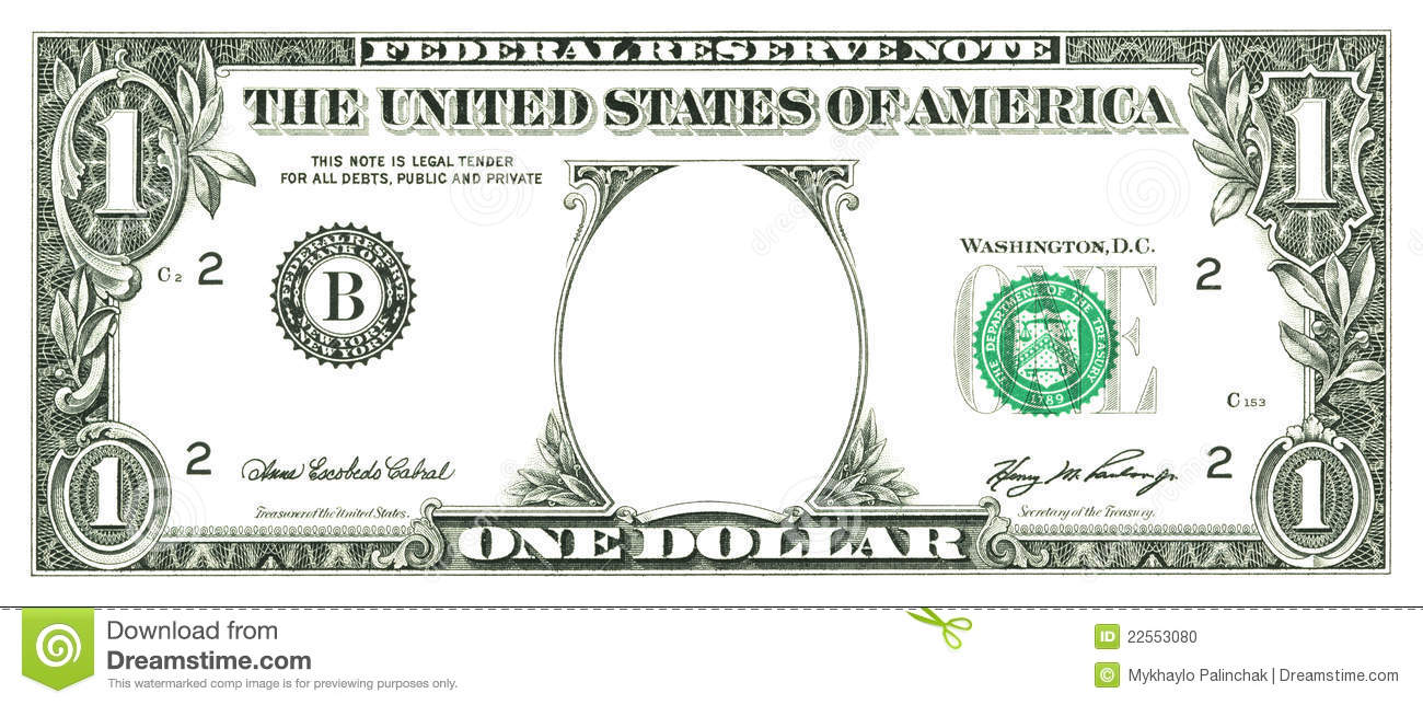 Clip art dollar bill.