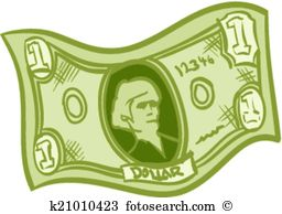 One dollar bill Clipart Illustrations. 645 one dollar bill clip.