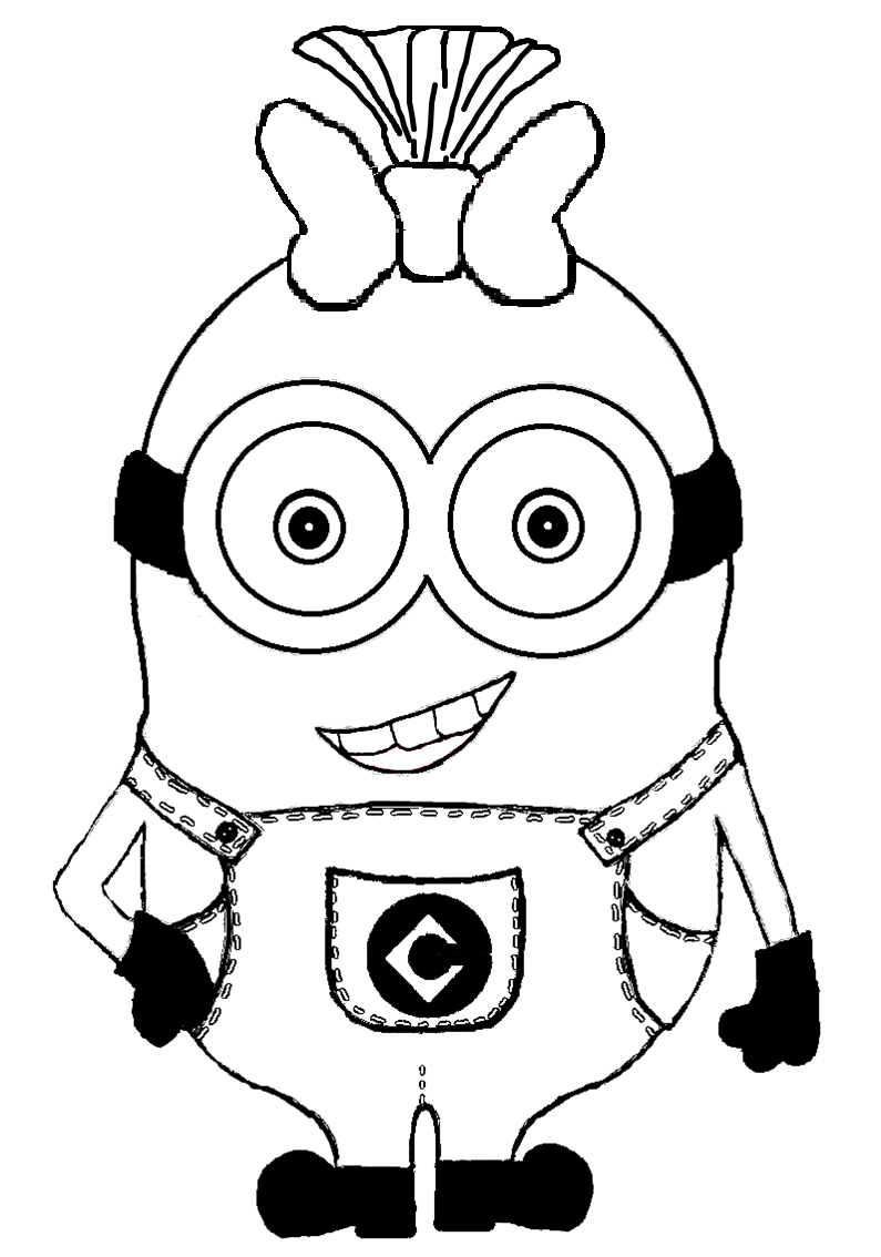 one eye minion clipart black and white Clipground